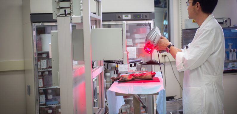 Mobile Krankenbett bioprinter kann Wunden heilen