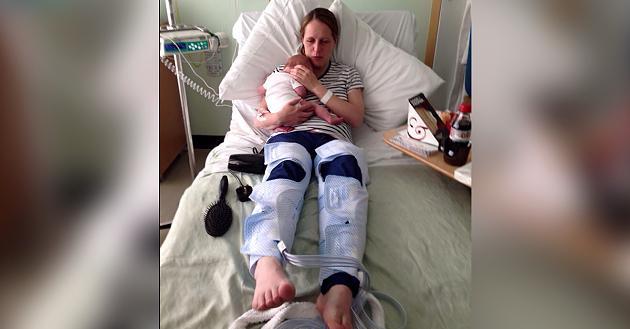 Weil sie zu fest presste: Frau erleidet Schlaganfall kurz nach Geburt ihrer Tochter