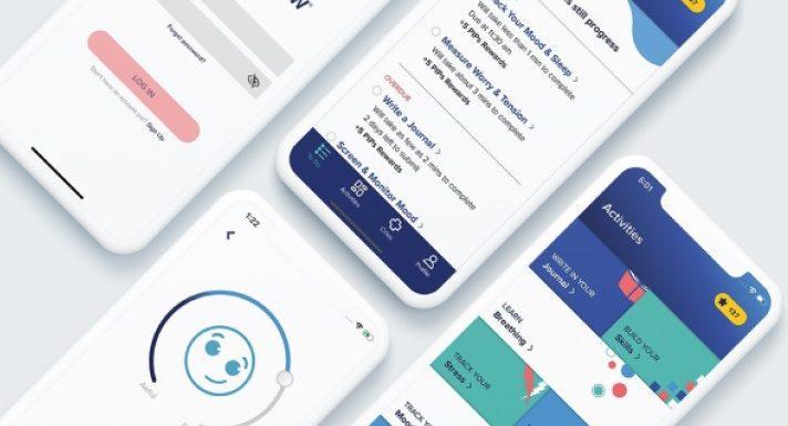 Bei Schmerz-Gruppe, eine mobile app, die hilft, Daten zu sammeln und die psychische Gesundheit verbessern