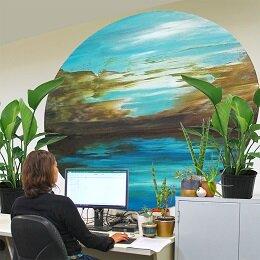Ein Zimmer mit Aussicht bietet eine visuelle Erleichterung für eine Arbeit müde Gehirn