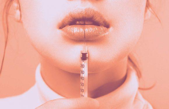 Reality-TV-Star Aktien Grafik-Fotos, die Nach Verpfuschten Lip Füllstoffe Verließ Ihre Lippen zu Sterben