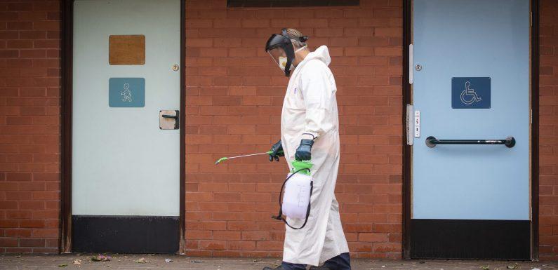 Britische Stadt Leicester, sieht lockdown angezogen auf virus-spike